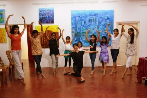 With Students @Introductory Ballet Workshop - Alliance Francaise - 14 th Nov 2015